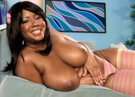 Busty black girl Aileen Ghettman Take Me To Boob Bliss