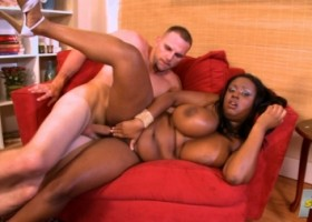 Busty black girl Aileen Ghettman First FuXXX