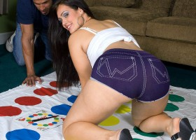 Yazmina Melendez playing Twister with Carlos ends up in cum covered ass