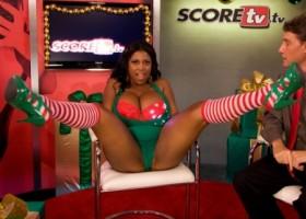 Busty black girl Maserati Christmass tv